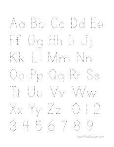 ABC handwriting practice sheet with alphabet a-z and numbers 0-9