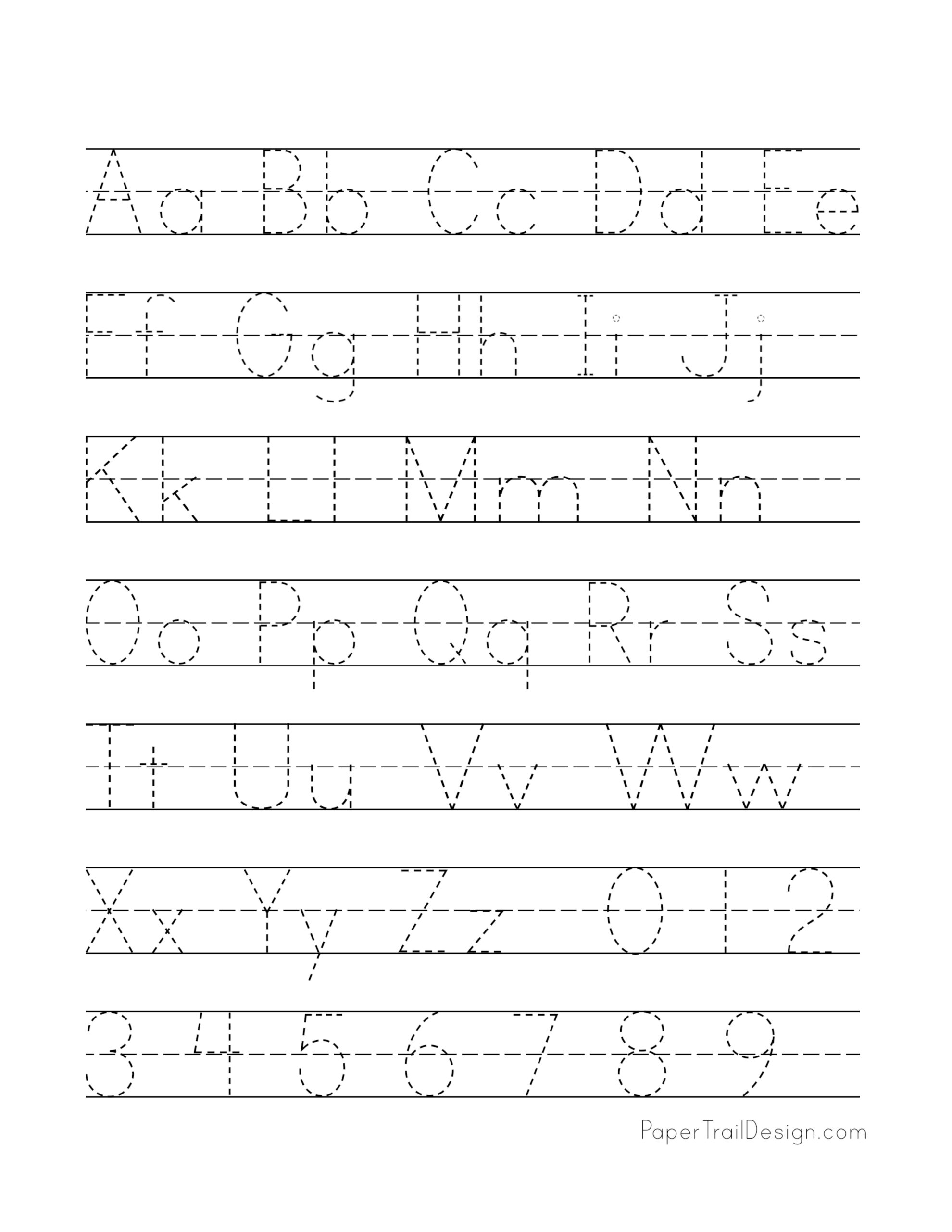 Free Printable Alphabet Handwriting Practice Sheets ...