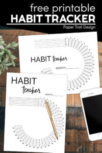 Gaol tracker templates with text overlay free printable habit tracker