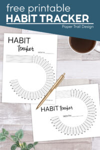 Circle habit tracker printable with text overlay free printable habit tracker