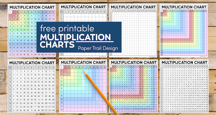 Free printable multiplication tables with text overlay- free printable multiplication charts
