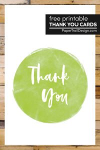 DIY thank you cards with text overlay- free printable thank you cards