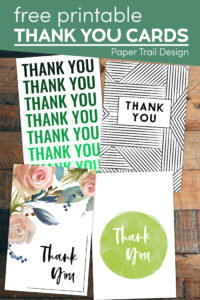 cute thank you cards with text overlay- free printable thank you cards