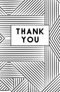 Free printable thank you cards in black and white to color