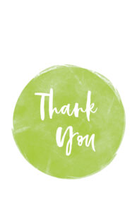 Cute thank you card design in green