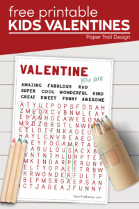 Printable valentine cards for kids with text overlay free printable kids valentines