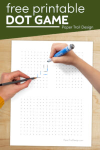 Dot to dot game with text overlay- free printable dot game