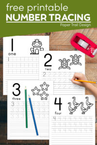 Free printable number writing practice sheets