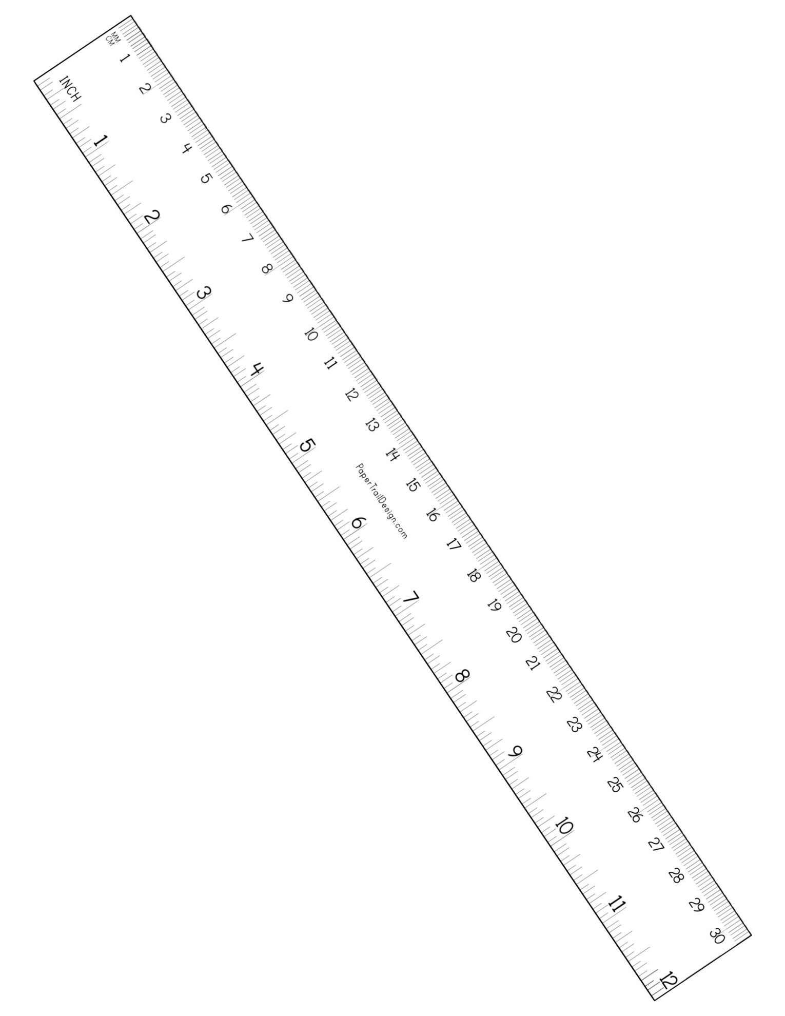 Free Printable Ruler inches and cm   Paper Trail Design