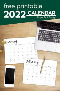 Free calendar template 2022 with text overlay- free printable 2022 calendar