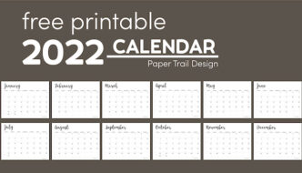 2022 Calendar template with text overlay- free printable 2022 calendar