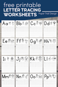 Preschool letter tracing worksheets with text overlay- free printable letter tracing sheets