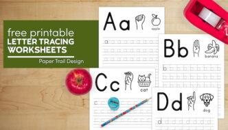 Free printable kindergarten letter tracing worksheets with text overlay- free printable letter tracing worksheets