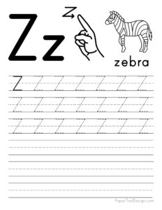 Capital letter Z tracing worksheet
