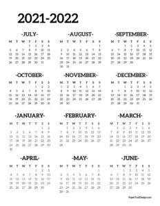Monday start 2021-2022 school year calendar