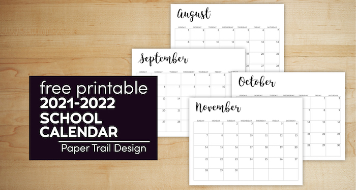 August, September, October, and November calendar pages 2021-2022