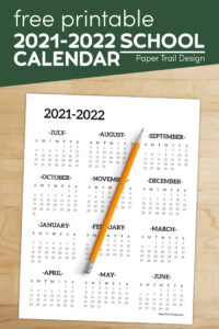 School year calendar with text overlay-free printale 2021-2022 school calendar