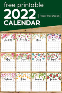 2022 calendar printable pages with text overlay- free pritnable 2022 calendar
