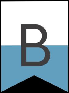 Happy birthday banner blue letter B