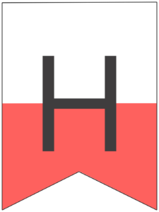 Happy birthday banner pink letter H