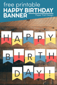 Happy birthday banner printable with text overlay- free printable happy birthday banner