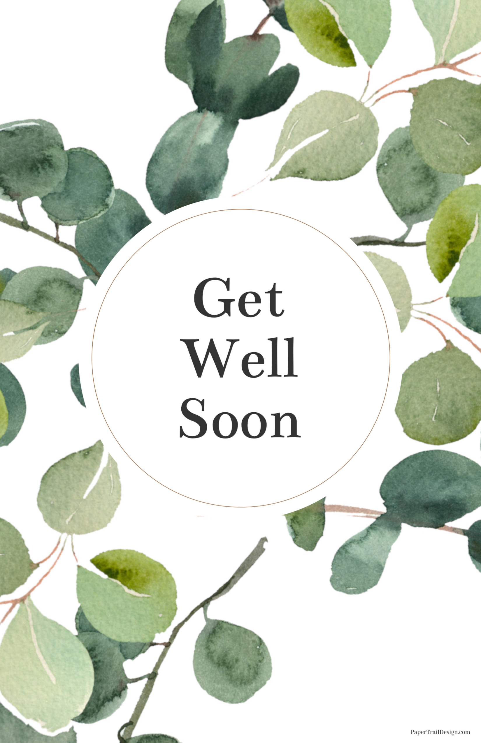 Get Well Soon Cards Printable  Paper Trail Design Regarding Get Well Soon Card Template