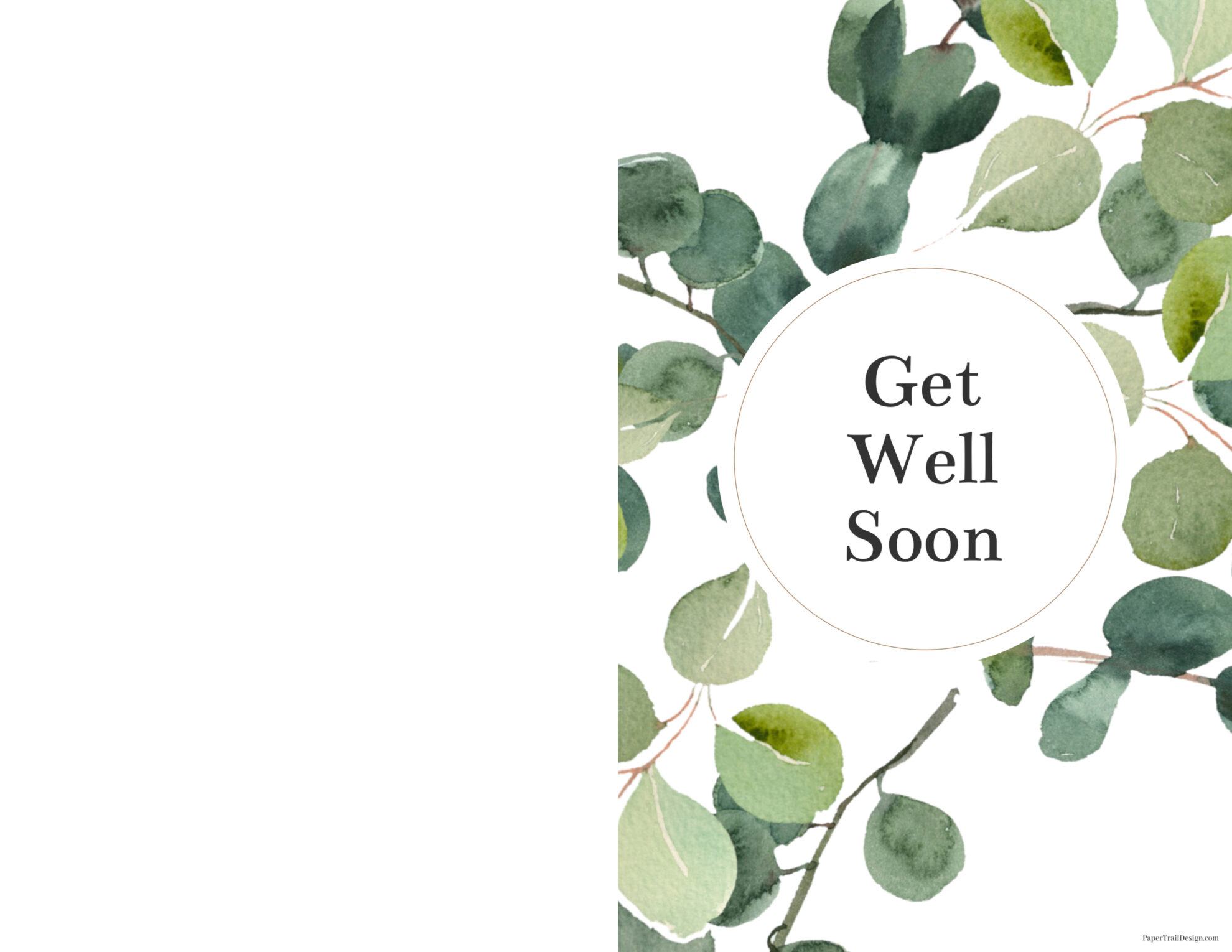 Get Well Soon Cards Printable  Paper Trail Design With Regard To Get Well Soon Card Template