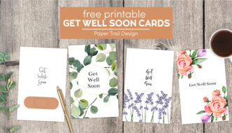 Get well soon cards with text overlay- free printable get well soon cards