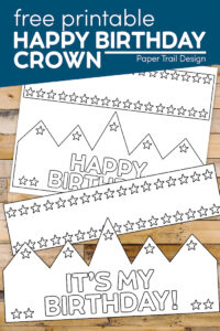 Happy Birthday crown that say's 'It's My Brithday' with text overlay- free printable happy birthday crown