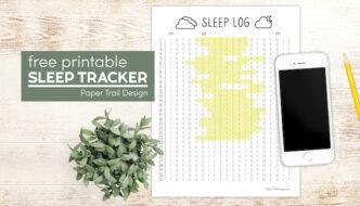 Printable sleep log with text overlay- free pritnable sleep tracker