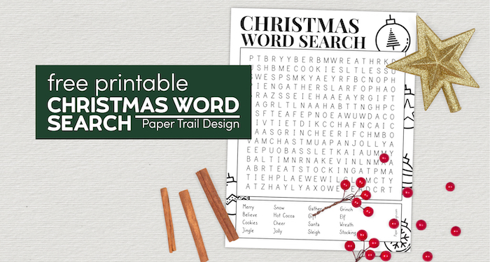 Christmas word search printable with text overlay- free printable Christmas word search