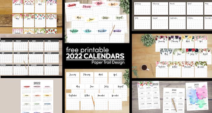 Free Printable 2022 Calendars
