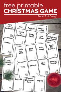 Christmas game printable with text overlay- free printable Christmas game