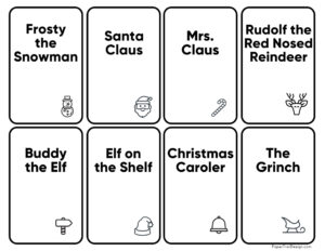 Christmas game cards