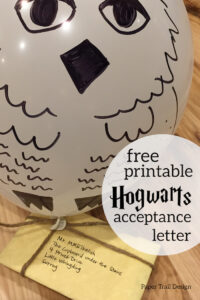 Hogwarts letter template to edit and print with text overlay- free printable Hogwarts acceptance letter